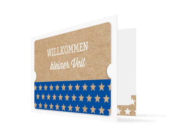 Karte zur Geburt Viola/Veit (Klappkarte)