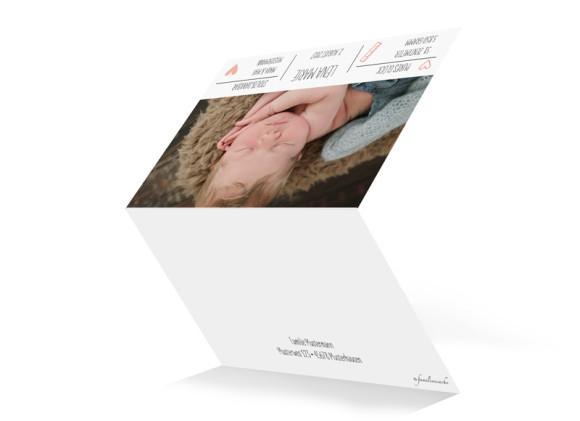 Danksagung zur Geburt Lena/Lars (Klappkarte, A6), Aussenansicht, Farbvariante:  apricot