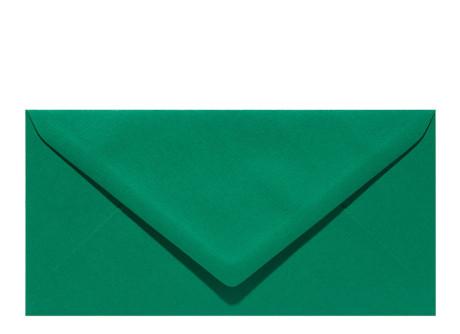 Umschlag im Format DL (220 x 110 mm), dark green