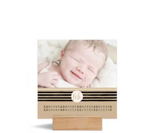 Foto-Tischkalender (150x150 mm), Motiv: Dot, Innenansicht, Farbvariante: altweiss