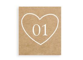 Tischnummern Luzern für Hochzeit 6er-Set Beige