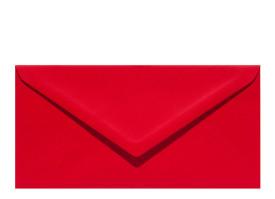 Umschlag DL (220 x 110 mm), red