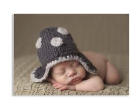 Baby-Fotopostkarte Weiß