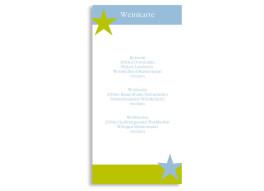Menükarten zur Hochzeit New York (DIN Lang-Karte)