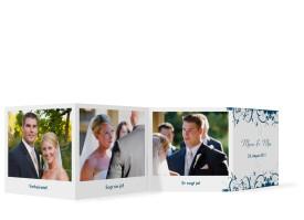 Foto-Leporello zur Hochzeit Miami (Gastgeschenk) Blau
