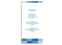 Menükarten zur Hochzeit Stockholm (DIN Lang-Karte)