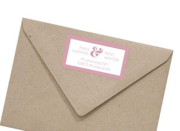 Adressetiketten (66x35 mm), Motiv: AE Salzburg, mit Briefhülle, Farbvariante: altrosa
