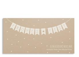 Firmen-Weihnachtskarte Weihnachtskette (Postkarte) Altweiß