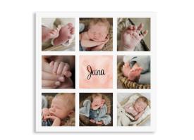 Geburtskarte Juna/Joris (Postkarte) Apricot