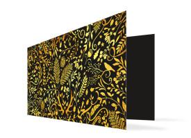 Weihnachtskarte Naturgold Schwarz