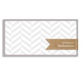 Konfirmationseinladung Pattern (Postkarte) Beige