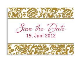Save-The-Date-Hochzeitskarte Barcelona (Postkarte A6) Beige