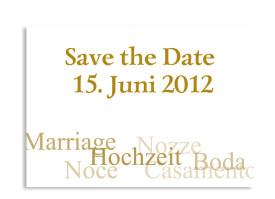 Save-The-Date-Hochzeitskarte Casablanca (Postkarte A6) Beige