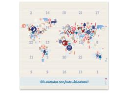 Foto-Adventskalender Weltkarte (Quad)