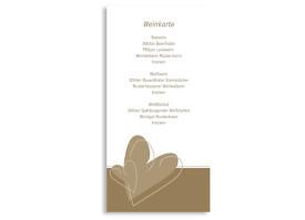 Menükarten zur Hochzeit London (DIN Lang-Karte) Beige
