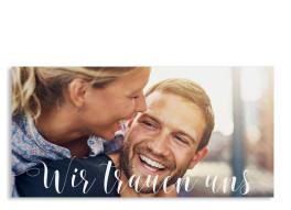 Hochzeitseinladung Cannes Pure (Postkarte DL)