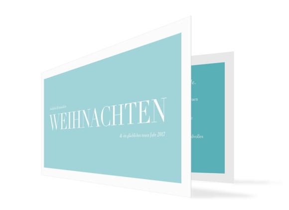 Firmen-Weihnachtskarte Nizza (Klappkarte)