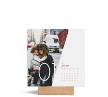 """Foto-Tischkalender """"Jahreszeiten""""  150x150 mm altrosa"""