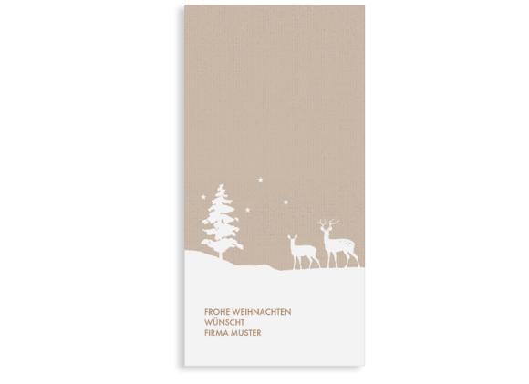 Geschäftliche Weihnachtskarte Winterlandschaft (Postkarte)
