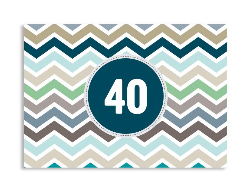 einladungskarten 40. geburtstag selbst gestalten, Einladung