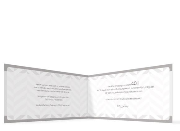 Geburtstagskarten Pattern, Innenansicht der Farbversion: beige