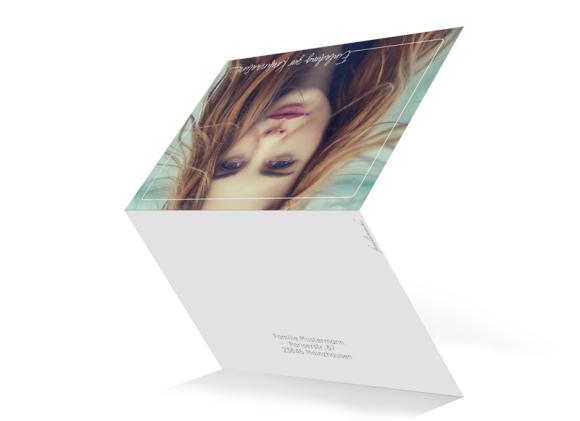 Kartenformat Klappkarte C6 quer, Motiv: Kraftvoll, Aussenansicht, Farbvariante: weiss