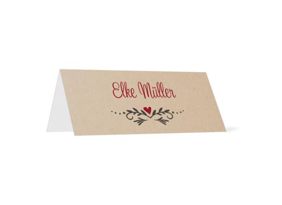 Tischkarte zur Hochzeit Hirsch