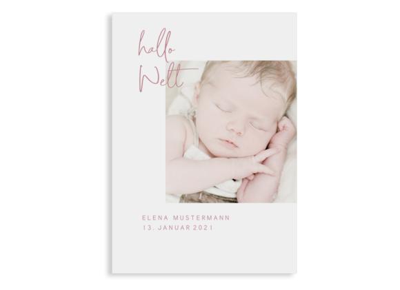 Geburtskarte Elena/Elias