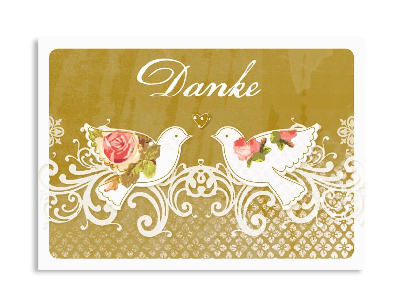 Danksagung Goldene Hochzeit Stilvoll Edel