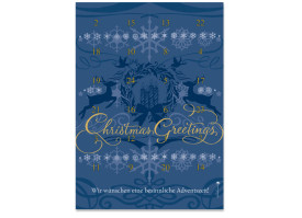 Adventskalender Holy Night (DIN A4) Blau