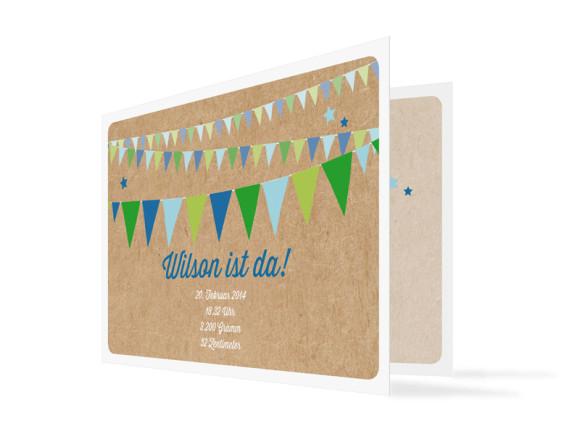 Geburtskarte Wilma/Wilson (Klappkarte, mit Foto)