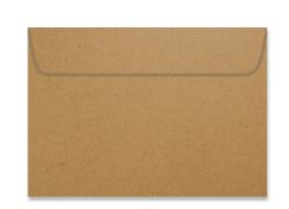 Umschlag im Format C6 (162 x 114 mm), Packpapier