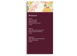 Menükarten zur Hochzeit Lissabon (DIN Lang-Karte)