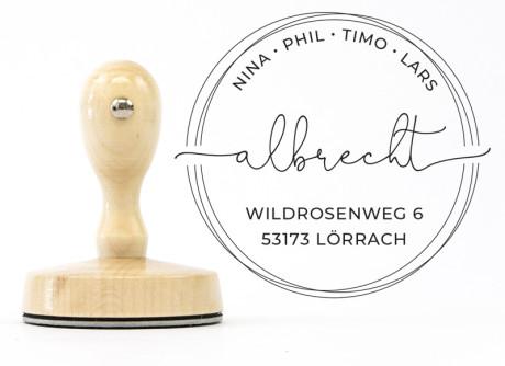 "Individueller Adressstempel ""Lörrach"" (personalisiert)"
