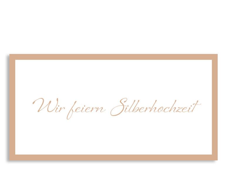 einladungskarten für die silberhochzeit selbst gestalten, Einladung