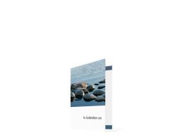 Sterbebilder Steine (Klappkarte) Blau/Weiß