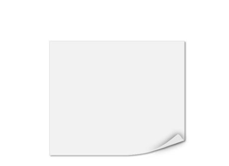 Einlegeblatt unbedruckt, Transparentpapier, 128 x 108 mm