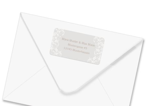 Absender-Adressetiketten zur Hochzeit Dubai