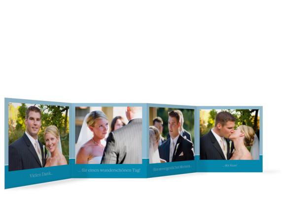 Innenansicht Foto-Leporello, Gastgeschenk, Motiv Helsinki, Farbversion: blau