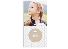 """Kommunionseinladungen """"Segen"""" (Postkarte mit Foto) beige"""