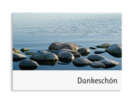 Trauerdanksagung Steine (Postkarte)