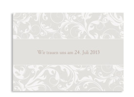 Save-The-Date-Hochzeitskarte Dubai (Postkarte A6) Beige