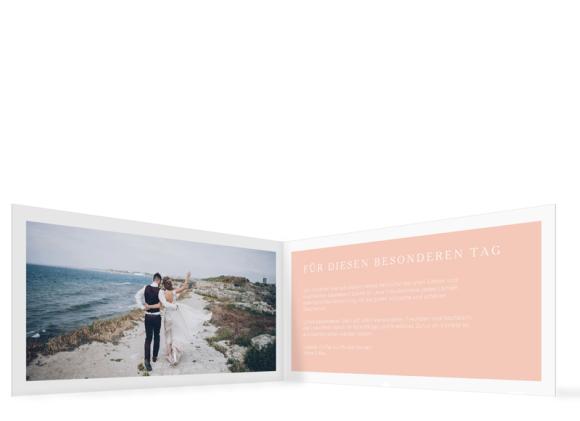 Hochzeitsdanksagung (Klappkarte DIN Lang, ein Foto), Motiv: HD Brisbane, Innenansicht, Farbvariante: apricot