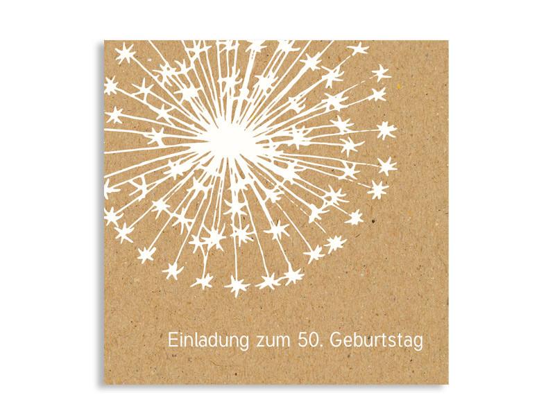 Geburtstagseinladungen pusteblume familiensache - Pusteblume basteln ...