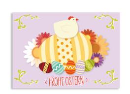 Osterkarten Henne (Postkarte)