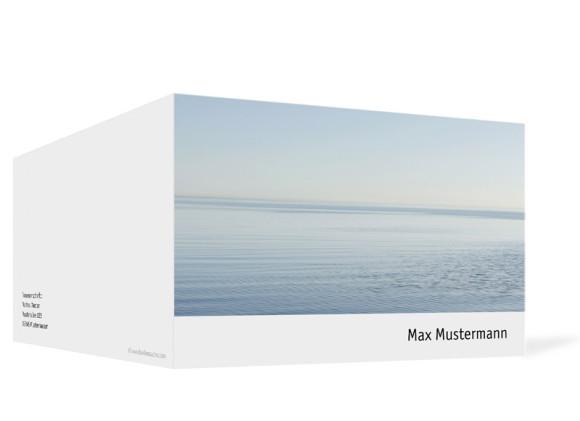 Außenansicht, Trauerkarte Motiv Fotokarte, Farbversion: weiß