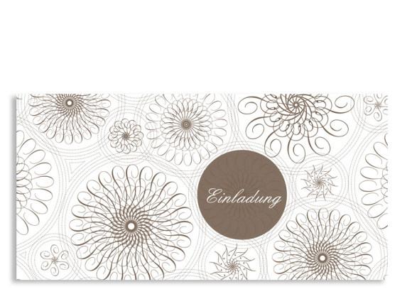 Einladungskarte Mandala (Postkarte, ohne Foto)
