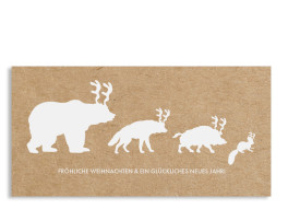 Weihnachtskarte Waldtiere (Postkarte)