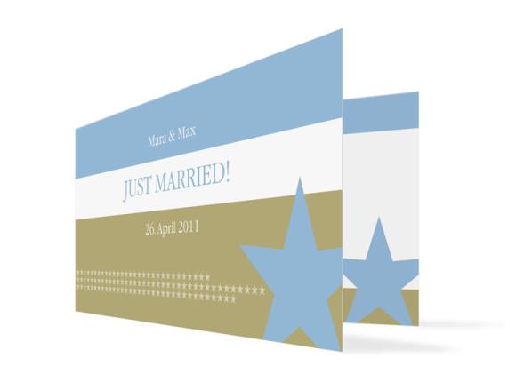 Hochzeits-Danksagungskarte New York (Klappkarte)