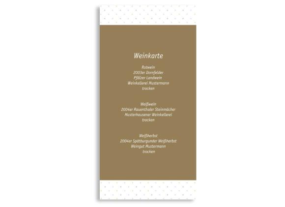 Menükarten zur Hochzeit Prag (DIN Lang-Karte)
